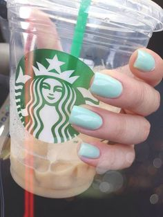 ashley's nails and starbucks drink