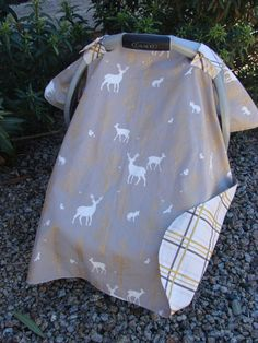 Baby Car Seat Canopy Baby Car Seat Cover Deer by KadydidDesigns