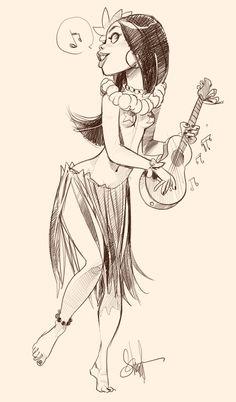 Tiki Girl by Otto Schmidt