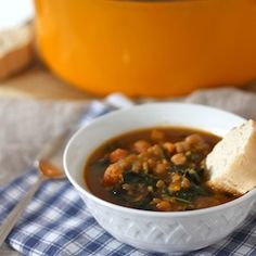 Warm up this fall with a bowl of Vegan Freekeh Soup with Sweet Potato & Kale.