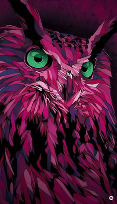 """My pink owl was the image for the music event """"HURRICANE + SOUTHSIDE Festival"""", held in Germany last June, with bands like Rammstein, Queens of the Stone Age or the Artic Monkeys.I've redrawn the whole illustration for them. Art And Illustration, Art Illustrations, Animal Drawings, Art Drawings, Drawing Animals, Owl Artwork, Wow Art, Fantasy Art, Concept Art"""