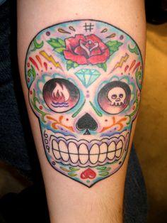 traditional sugar skull tattoo - Google Search