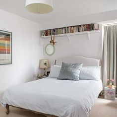 Simple over-bed shelving | modern bedroom design ideas | bedroom | PHOTO GALLERY | Style at Home | Housetohome