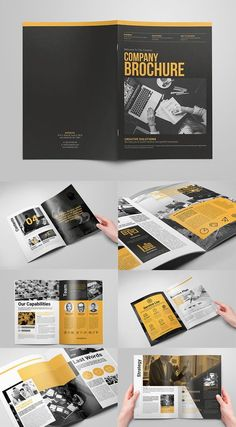 Creative Brochure Vol 6 is part of Company brochure design - Creative Brochure Vol 6 This is creative template of company brochure It was made to promote your company, creative works, portfolio and services Fully Company Brochure Design, Company Profile Design, Graphic Design Brochure, Brochure Design Inspiration, Brochure Layout, Brochure Template, Branding Design, Free Brochure, Travel Brochure