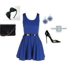 BLUE, created by paulette-lanni on Polyvore
