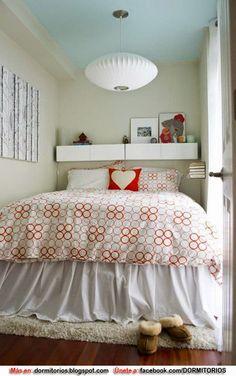 Peque a decoraci n de dormitorios en pinterest - Decoracion dormitorio pequeno ...