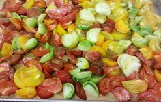 The fruits of last years heirloom tomato crop! Such vibrant flavors and colors