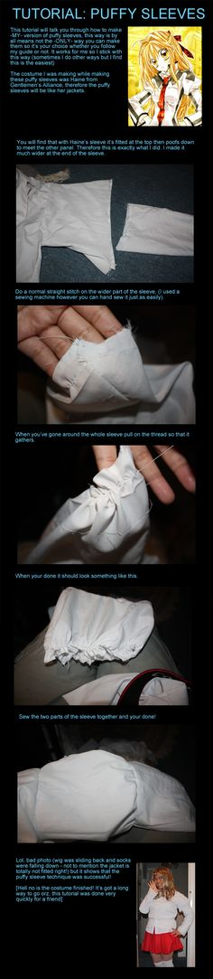 Tutorial: Puffy sleeves by Destinys-spirits.deviantart.com on @deviantART