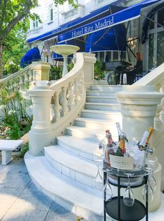 The Ritz Garden at Hotel Ritz, Madrid is a perfect place for an al fresco glass of champagne.