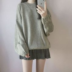 Look at this cool korean fashion outfits 8368205688 koreanfashionoutfits 2 colors 2018 autumn women corduroy jackets pockets korean long sleeve solid jackets outwear casual pocket loose jackets Kawaii Fashion, Cute Fashion, Look Fashion, Girl Fashion, Fashion Outfits, Fashion Design, Fashion Ideas, Classy Fashion, Fashion Styles