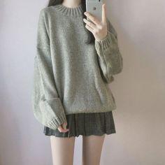 Korean Girl Fashion, Korean Fashion Trends, Ulzzang Fashion, Korean Street Fashion, Asian Fashion, Korea Fashion, Korean Fashion School, Teen Fashion Outfits, Mode Outfits