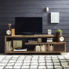 44 Modern TV Stand Designs for Ultimate Home Entertainment Tags: tv stand ideas for small living room, tv stand ideas for bedroom, antique tv stand ideas, awesome tv stand ideas, tv stand ideas creative Living Room Tv, Apartment Living, Home And Living, Small Living, Tv Stand Ideas For Living Room, Apartment Therapy, Frugal Living, Tv Stand Decor, Diy Tv Stand