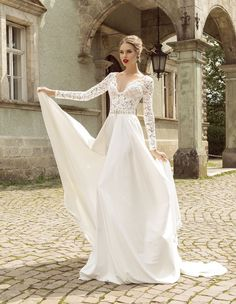 Summer Style Lace Long Sleeve Wedding Dresses 2016 V Neck A Line Lace Wedding Dress Beading Beach Bridal Gowns-in Wedding Dresses from Weddings & Events on Aliexpress.com | Alibaba Group