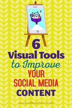 Want to improve your social media images? Visual content is an absolute must for generating engagement on social media, whether it's in the form of videos, graphics, or emojis. In this article, you'll discover six tools for creating unique, professional-looking visuals for social media. Via @smexaminer.