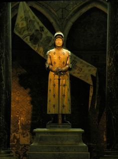 Statue of Joan of Arc in Reims Cathedral, by Prosper d'Épinay, French sculptor, Photograph taken by: Eric Pouhier, March Saint Joan Of Arc, St Joan, Women In History, Art History, Reims Cathedral, Saint Philomena, 30 Mai, Female Knight, Lady Knight