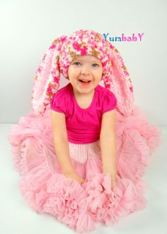 Bunny Hat Photo Props Cute Easter Clothes Hats for Kids by YumbabY #bunnies #bunnyhats #babyshower #giftideas #pink #easter