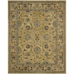 Safavieh Handmade Anatolia Oriental Golden Pear/ Smoke Hand-spun Wool Rug (9' x 12')