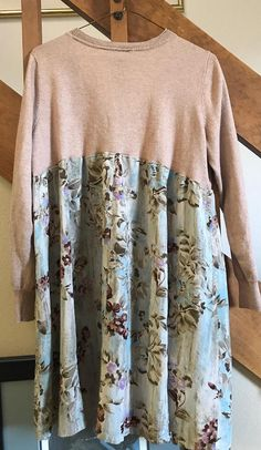 Women's Upcycled Tunic/Dress Repurposed/One of a kind