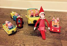 Elf on the shelf idea. Joy as peppa pig. Peppa pig elf on a shelf
