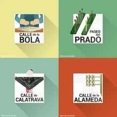 Restyling of the classic #madrid street signs - www.creativepool.com /fernandcastello