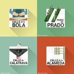 Restyling of the classic #madrid street signs - www.creativepool.com /fernandcastello