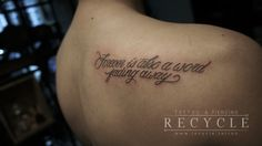 #recycletattoo #saigon #vietnam #tattooconvention #besttattoo #type #font #design #tattooletter #scriptttattoo #freshtattoo