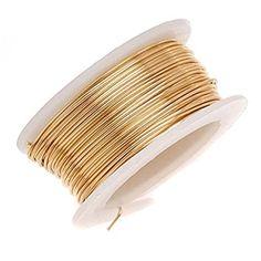 Beadalon Artistic, 18 Gauge, Non-Tarnish, 4 yd m) Craft Wire, NT Brass Gold Wire, Copper Wire, Brass, Sisal, Jewelry Findings, Wire Jewelry, Jewelery, M Craft, Copper Crafts
