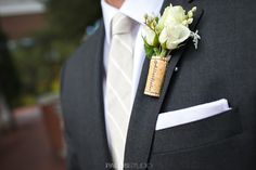 Sherwood Country Club Wedding Cork Boutonniere @Alissa Anaya