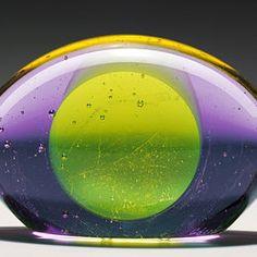 Baby Alien, a glass sculpture by György Gáspár, 2011. Kiln cast, ground and glued glass