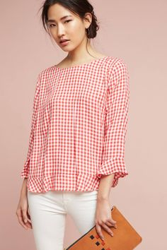 Shop the Gingham Ruffle Blouse and more Anthropologie at Anthropologie today. Read customer reviews, discover product details and more.