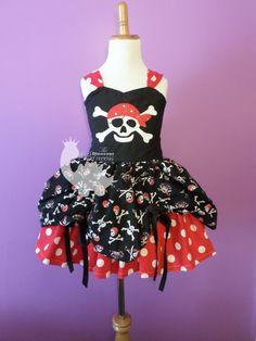Custom Embroidered Pirate Princess Bustle by TheDinosaurPrincess