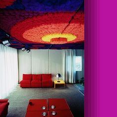 HOUSE OF THE FUTURE – KUNSTOFFHAUS FG 2000 Germany 1970 late Mid Century Modern. The house has carpeting glued to the ceiling.