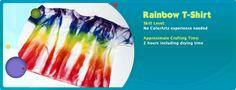 DIY Painted Rainbow T-shirt