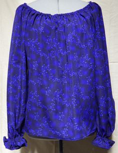 Blue gathered blouse size 12 & 16 Off Shoulder Blouse, Off The Shoulder, Bias Tape, Blue Blouse, Lace Shorts, Corset, Size 16, Looks Great, Cosplay