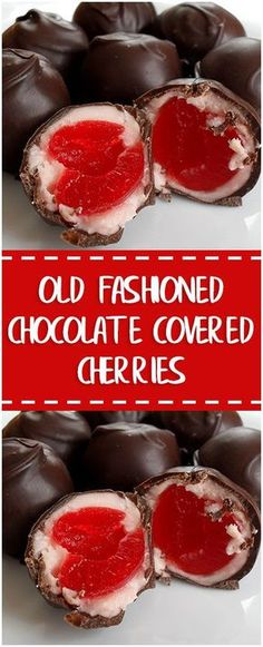 Old Fashioned Chocolate Covered Cherries#oldfashioned #chocolate #covered #cherries #easyrecipe #delicious #foodlover #homecooking #cooking #cookingtips