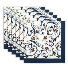 Serviette Satz Von 6 Indische Blumenmehrfarben Waschbar Schnelle 100% Baumwolle ShalinIndia http://www.amazon.de/dp/B00GICWUD4/ref=cm_sw_r_pi_dp_UBeXvb1Q9Q29F