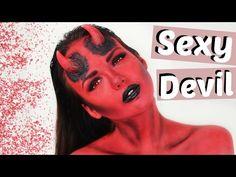 HALB SEXY HALB VERLETZT - Halloween Make Up TWO FACED | ViktoriaSarina - YouTube