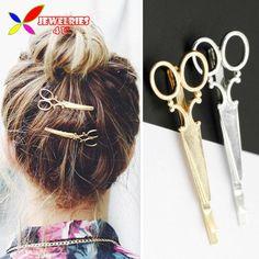 2016 Horquillas de La Manera Caliente de Moda Precioso Oro Metal Plateado Tijeras de Pelo para Las Mujeres Accesorios de La Joyería pinzas de pelo