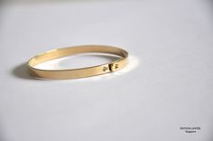 Yellow Gold Platted Bangle @ editionlimitee.com.sg