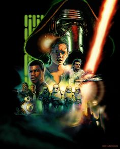 StuffNThings - Star Wars The Force Awakens Poster by Elswyse