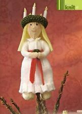 Santa Lucia Swedish Christmas Tree Toy Doll Queen of Lights by Alan Dart Knitting Pattern: Measurements (simply Knitting Magazine Pull Out Pattern) Swedish Christmas, Christmas Tree Toy, Christmas Ornaments, Xmas, Alan Dart, Knitting Patterns, Crochet Patterns, Simply Knitting, Knitting Magazine
