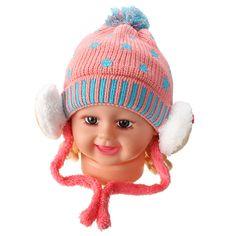 Sale 10% (4.89$) - Baby Girl Boy Crochet Cap Five-Pointed Stars Bear Kids Knit Ear Bear Hats