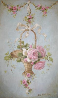 28 Ideas For Antique Furniture Victorian Shabby Chic Pink Roses Floral Vintage, Vintage Flowers, Vintage Prints, Motif Vintage, Vintage Design, Vintage Style, Vintage Wallpaper Patterns, Pattern Wallpaper, Decoupage Vintage