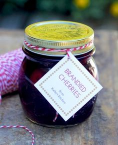 Brandied Cherries - Plump sweet summer cherries preserved in brandy is a decadent treat.