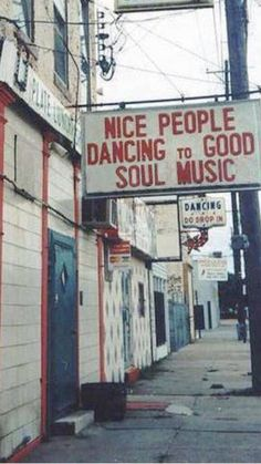 This is our kind of place! The small things in life, like people dancing to good music! We love this little saying and image!