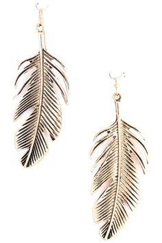 """Metal leaf dangle earrings. Drop earring: 2 3/4"""". Fish hook ear wire."""