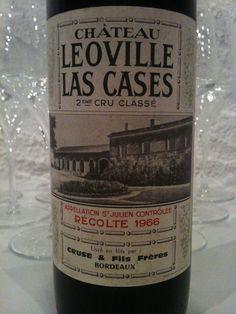 Leoville-Las-Cases 1966 Bordeaux, Saint Julien, French Wine, Old Bottles, Fine Wine, Wineries, Whisky, Liquor, Juice