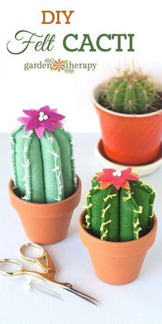 DIY Felt Cacti How Adorable!