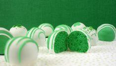 St patrick's day cake bites - green cake!