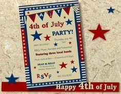 4th of July DIY  invitation by SBStudioDesign on Etsy, $20.00